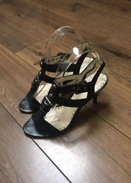 Coach Sling Back Open Toe Leather Heels Sandals Sz 7