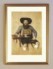 Andreas Hofer I. Tirol von Franz Defregger Büttenfaksimile K&K 2a im Goldrahmen