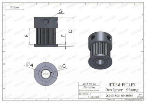 HTD3M 90T 15T Belt Width 10mm Timing Pulley Belt set kit Reduction Ratio 6:1 CNC