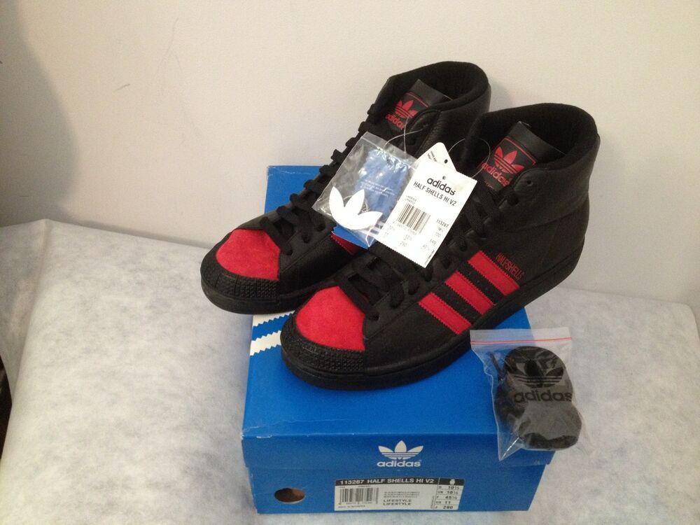 Adidas Half Shells Hi v2 en 45 1/3 UK 10.5 US 11 BNWT 113287 Retro Prod. 06/2005-
