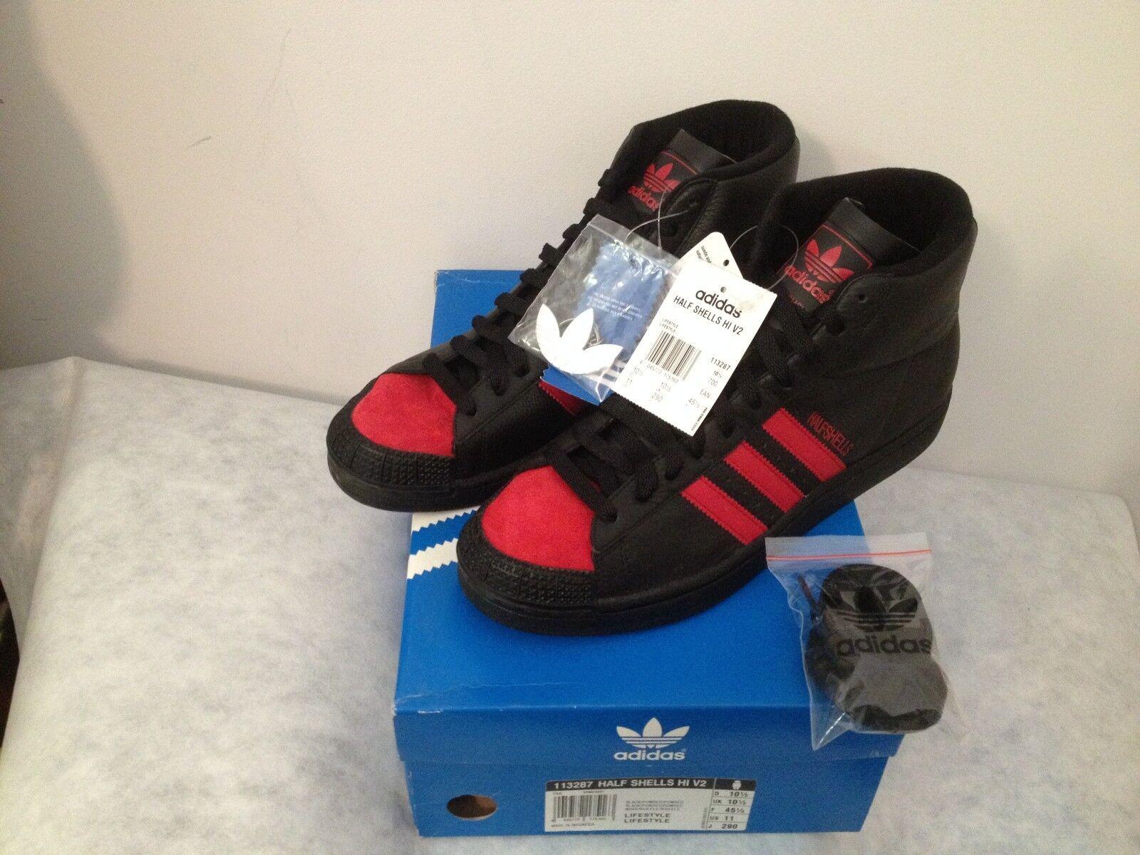 Adidas half shells Hi v2 en 45 113287 1/3 us 11 BNWT 113287 45 retro PROD. 06/2005 9038a9