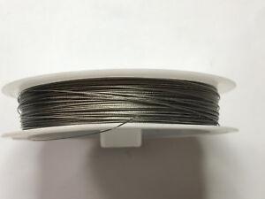 0,08€/m) 50 m Schmuckdraht 0,38 mm Edelstahl silber Draht Schmuck ...