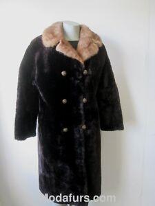 Superb Mink Women's Fur With Lamb Sz Collar Bon Coat 8 Mouton q4Xv8rqpw