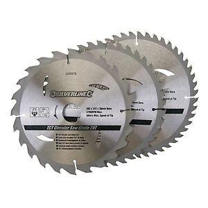 3-X-205mm-8-034-Hojas-De-Sierra-Circular-TCT-30mm-agujero-16-18-amp-25-mm-reduccion-Anillos