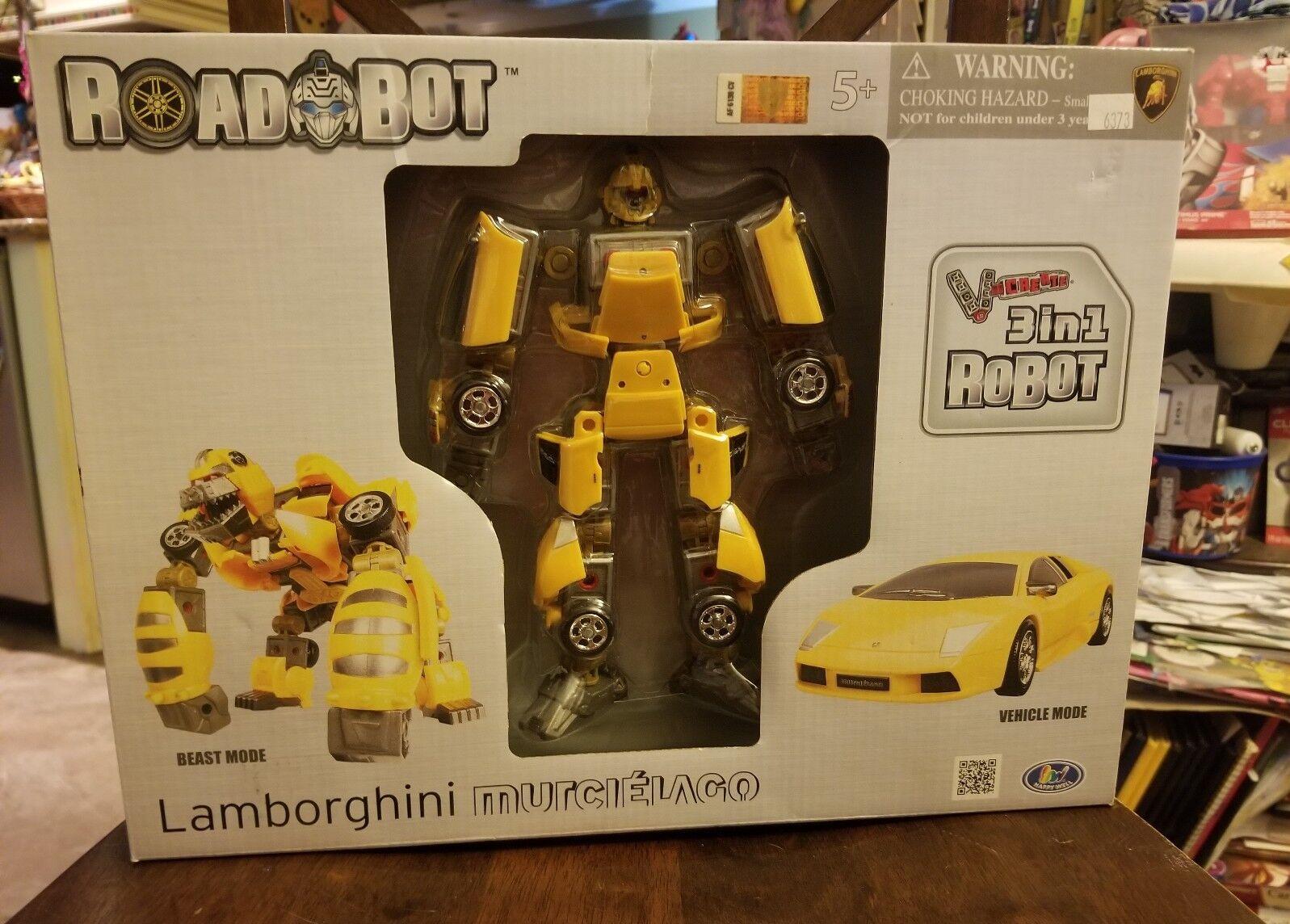 K.O. Transformers 3 in 1 Lamborghini Robot Transformer NEW RARE