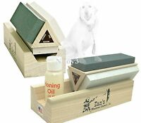 Dan's Whetstone Tri-stone Knife Sharpening System W/ Honing Oil