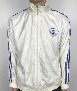 90 avec rayures' vintage veste années la à Adidas marque 3 White Small S 'la Trefoil des RqAjL534