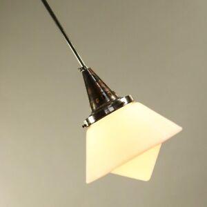 Art-Deco-Stab-Pendel-Leuchte-Bauhaus-Ara-alte-Haenge-Lampe-20er-30er-Dr-Twerdy