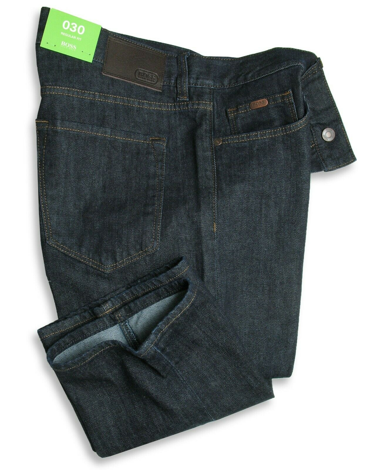 Hugo Boss Green Jeans C-Maine (Regular Fit) Dark bluee Rinsed Stretch
