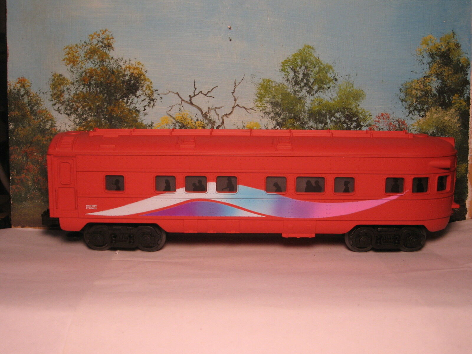 LIONEL  6-15137 NEW OBSERVATION CAR COMPLETE WITH FLAMES