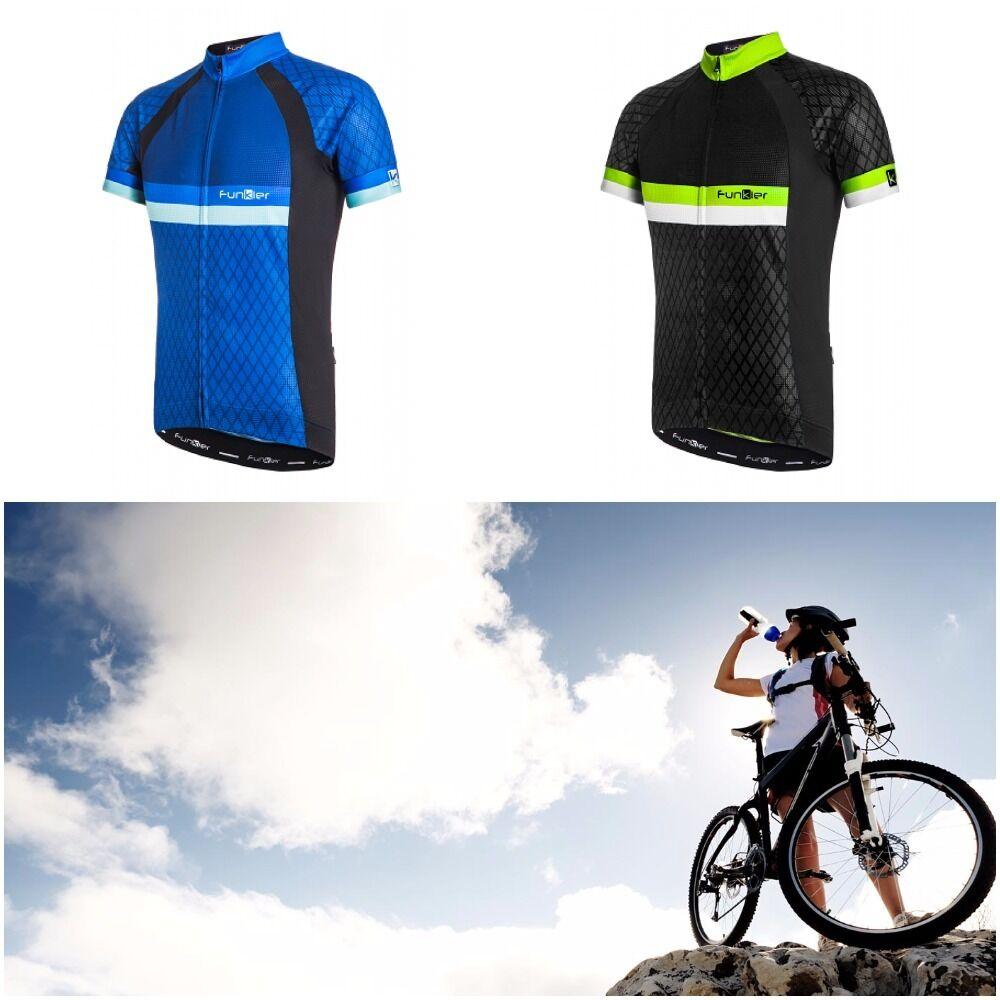 2017 Funkier mannen's Cycling MTB J-805 Jersey water resistente Slimphone pocket