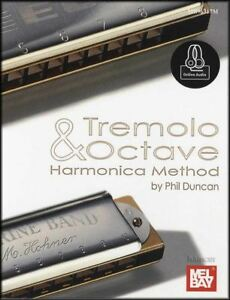 Tremolo-amp-Octave-Harmonica-Method-Partitions-livre-avec-audio-apprendre-a-jouer