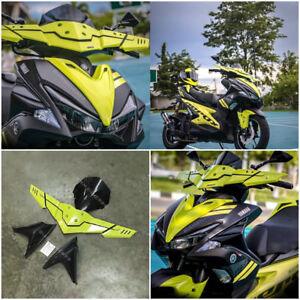 Details about YAMAHA AEROX NVX 155 2017 GREEN METER VISOR WIND SCREEN  SHIELD HAND GUARD SET