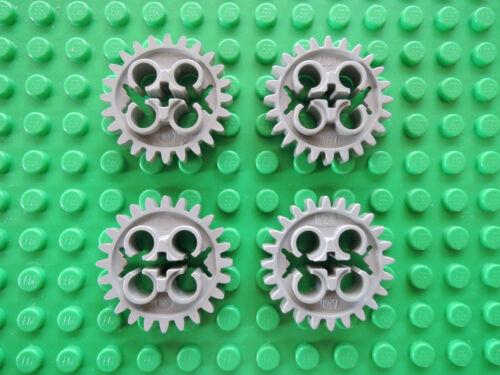 Lego Technic 4 x Zahnrad 24 Zähne X187  alt hellgrau