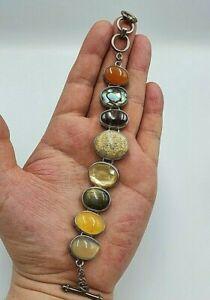 QVC Whitney Kelly Solid Silver Multi-Stone Bracelet  Fully Hallmarked