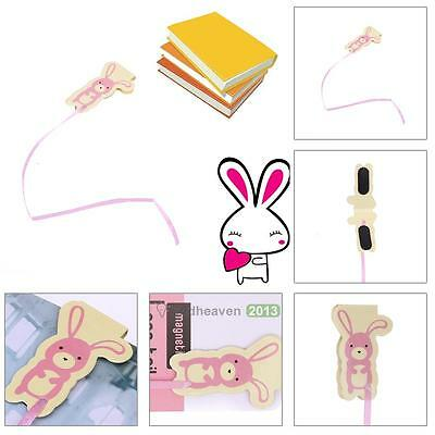 Cute Rabbit Magnetic Bookmark Paper Clip Bookmark School Office Supply Tool