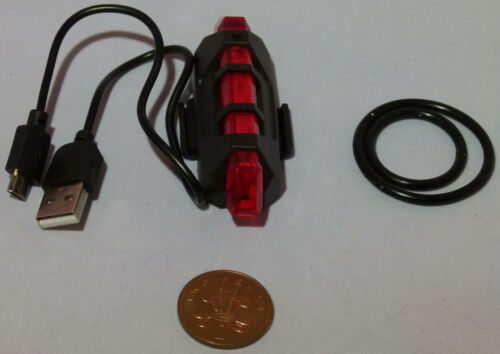 Bicycle lights USB Rechargeable Front and back or Pair-UK STOCK