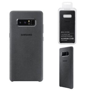 sports shoes 34906 f1168 Details about GENUINE OFFICIAL ORIGINAL SAMSUNG GALAXY NOTE 8 ALCANTARA  COVER CASE - DARK GREY