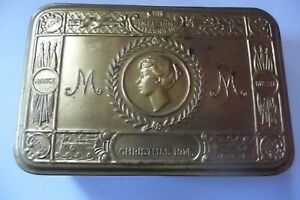 1st World War Princess Mary's 1914 Christmas Gift Tin for Soldiers