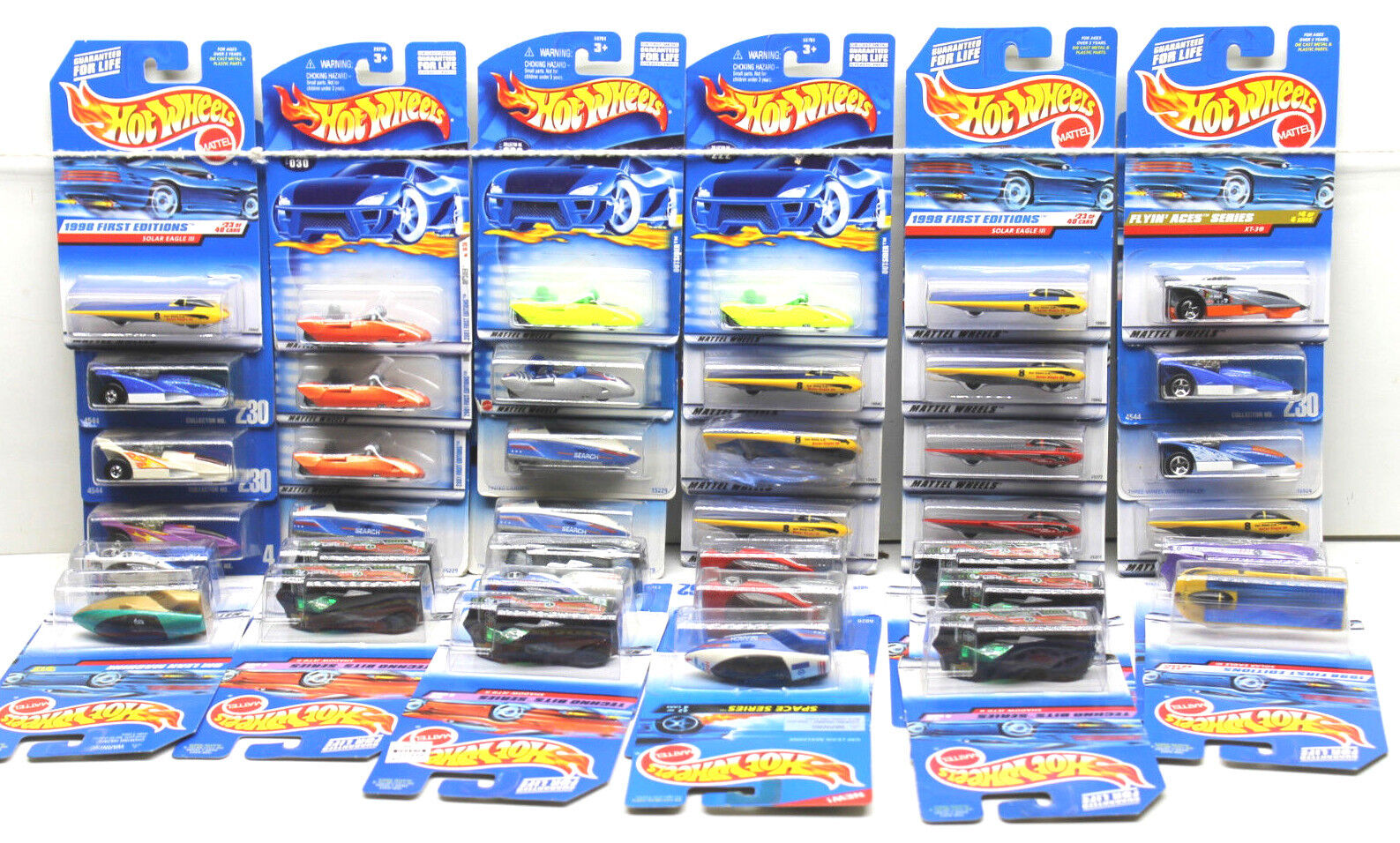 39 pc Hot Wheels Ford Die Cast Car Lot Solar+Outsiders+Alien+XT-3 Mattel NOC