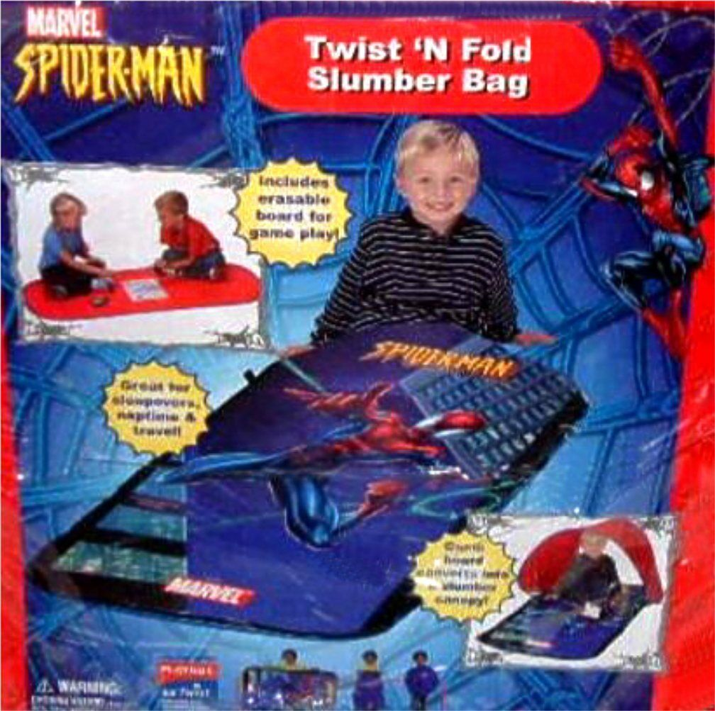 Avenger Spiderman Sac de couchage ou Slumber Sac Playhut w plateau de jeu nouveau Marvel