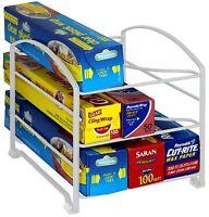Decobros Kitchen Wrap Organizer Rack White on sale