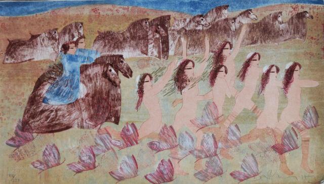 Dariush litografia cornice odalische quadro moderno idea arredo