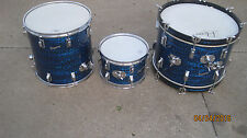 4 Rogers Swingtime Drums Blue Onyx Pearl 1964  Clevland one extra Tom  4 drums