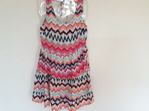 H-amp-M-DRESS-SUMMER-MULTI-COLOURED-SIZE-10-BNWT-TIERED-SLEEVELESS-LOW-BACK