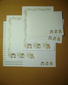 frogs letter writing stationery paper set with envelopes ebay