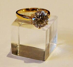 Ring-Silber-925-vergoldet-Zirkon-Edelsteinring-Silberring