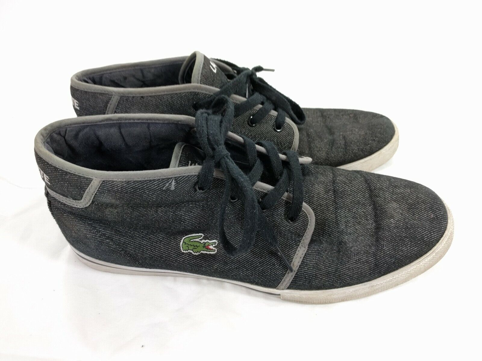 Lacoste Sport Mens Ampthill TK Sneakers shoes Hightop Canvas Chukka US Size 11