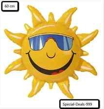1x Sonne aufblasbar ca. 60 cm Gelb Dekoration Spielzeug Neu Fun incredible Sun