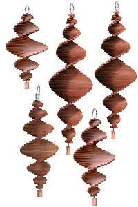 garten windm hle windspirale aus holz windspiele gartenwindspiralen nussbaum ebay. Black Bedroom Furniture Sets. Home Design Ideas