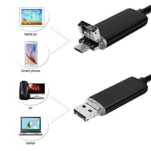 TELECAMERA ENDOSCOPICA 6 LED TUBO FLESSIBILE USB 5 MT IMPERMEABILE ISPEZIONE