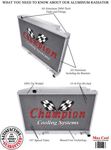 2 Row DR Champion Radiator for 1990-1991 Mercedes-Benz 350SDL L6 Engine