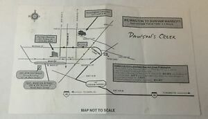 DAWSON-039-S-CREEK-set-used-paperwork-LOCATION-MAP-on-back-of-memo