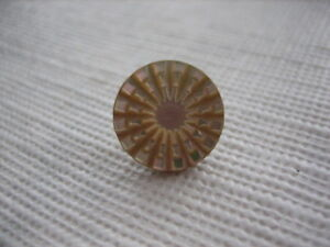 Vintage-Small-7-16-034-Iridescent-Carved-MOP-Mother-Of-Pearl-Shell-Button-PB56