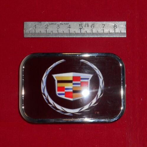 Fibbia belt buckle in metallo stampata Cadillac crest logo
