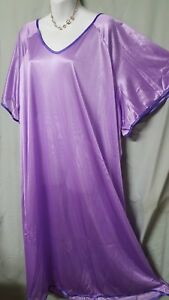 Comfort-Choice-Long-Purple-w-Purple-Nightgown-Plus-1X-56-034-BUST