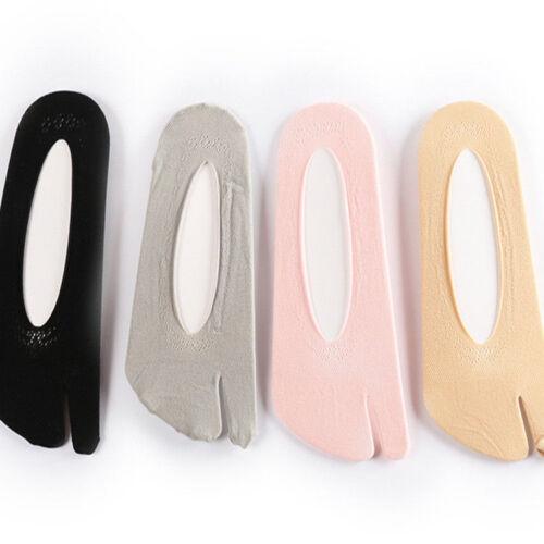 5 Paar Damen Teilung zwei Zeh boot-socken für Zehentrenner Hausschuh Kimono Geta