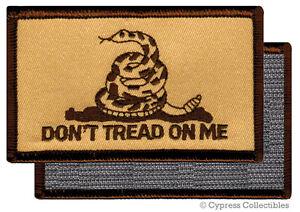 DONT-TREAD-ON-ME-GADSDEN-FLAG-PATCH-AMERICAN-CAMO-TAN-w-VELCRO-Brand-Fastener
