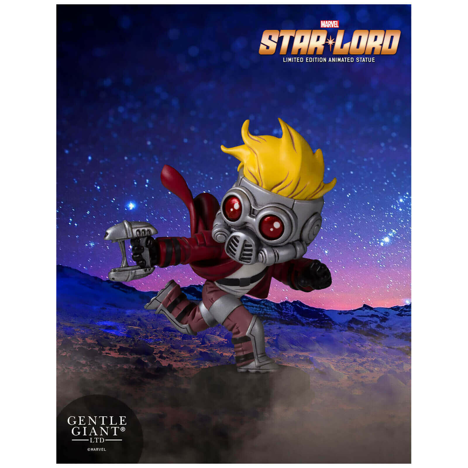 Gentle Giant Marvel Comics Guardians of the Galaxy Star-Lord Animated Statue 12c
