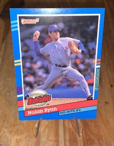 1991 Donruss Nolan Ryan ERROR CARD Texas Rangers #BC3 No Period After INC.