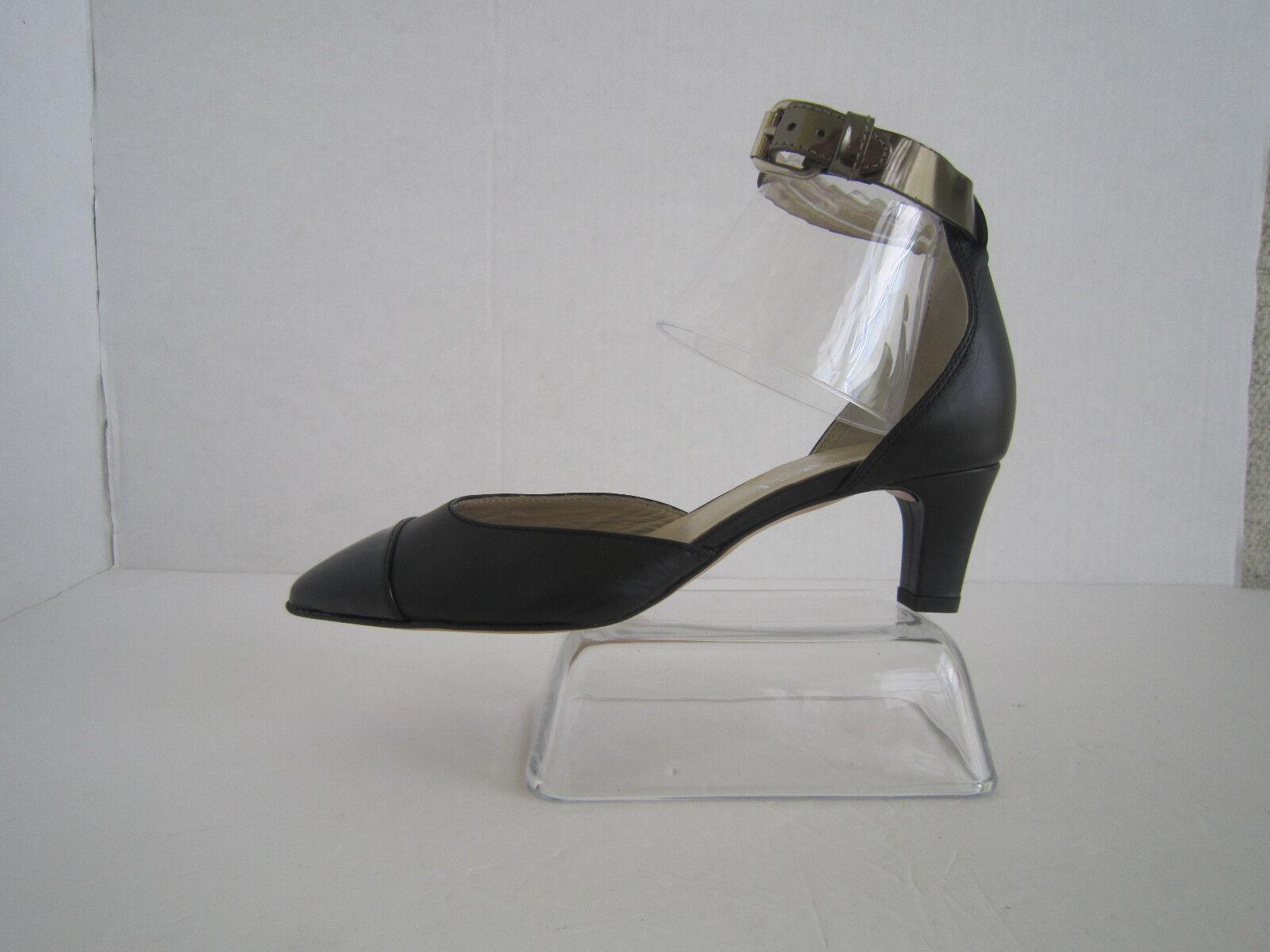 servizio di prima classe AGL Claire Ankle Strap Pumps Classic Leather Leather Leather nero Cap Toe scarpe Sz 36 Us 6  confortevole