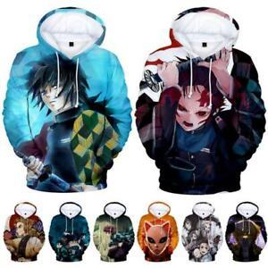 Demon Slayer Kimetsu no Yaiba Hoodie Sweat Shirt Short Sleeve Hooded Tee Tshirt