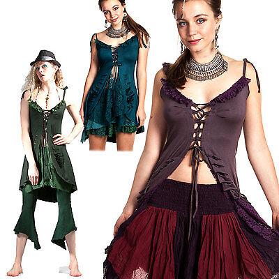 PRETTY MINI DRESS TOP, slash steampunk top, psy trance clothing, boho, festival