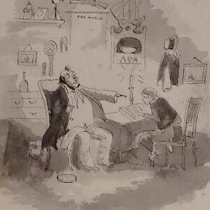 c1880 ORIGINAL ARTWORK DRAWING SKETCH - Cani