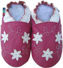 Soft Sole Leather Baby Infant Shoes Prewalk Toddler Kids SnowmanFuchsia 18-24M