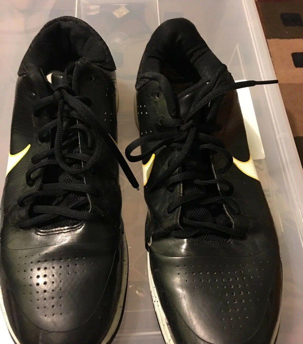 Nike Zoom Kobe V 5 Home and Away  Version Del Sol Purple Yellow Size Worn x10